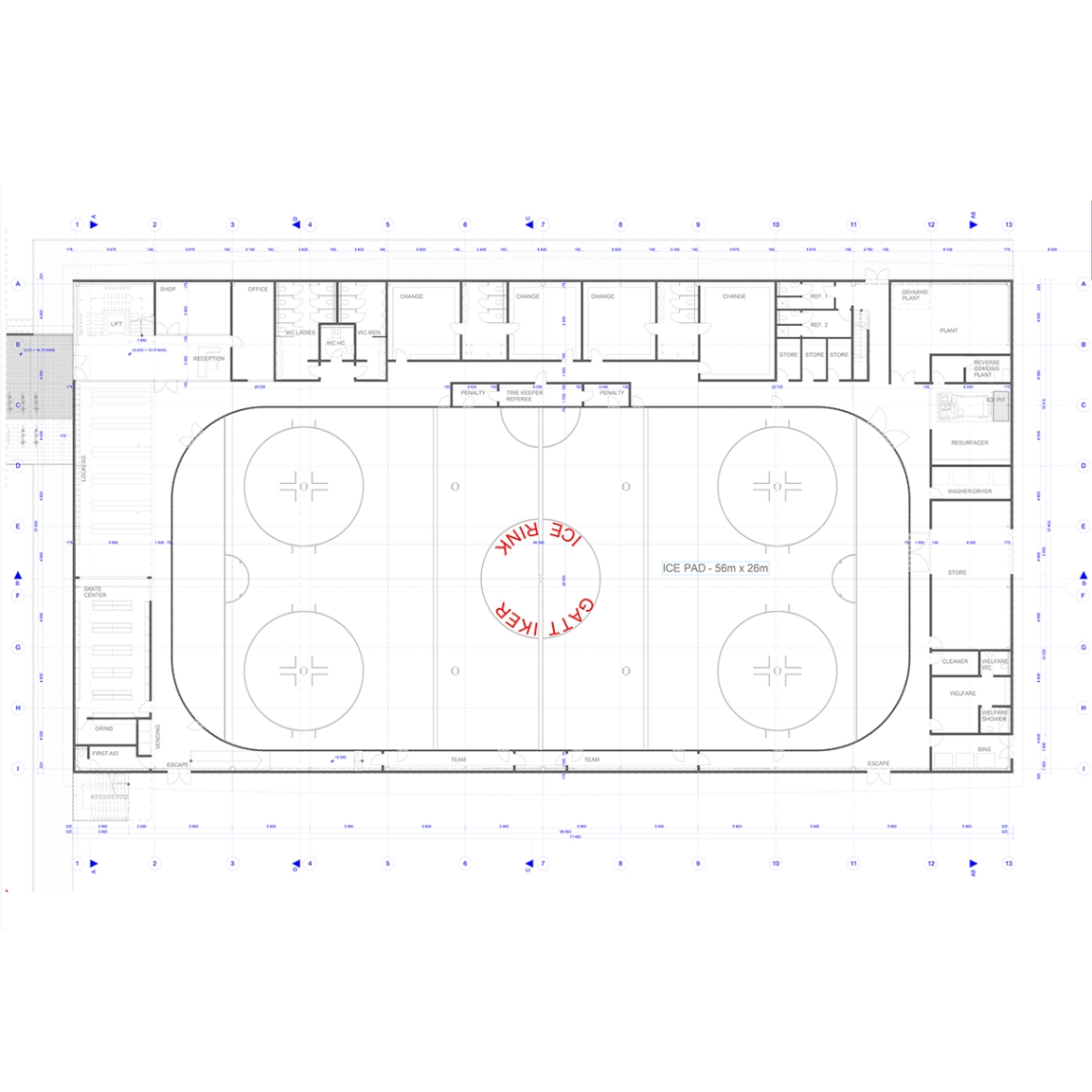 Cambridge Ice Arena latest design