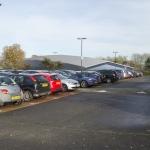 Cambridge Ice Arena parking view